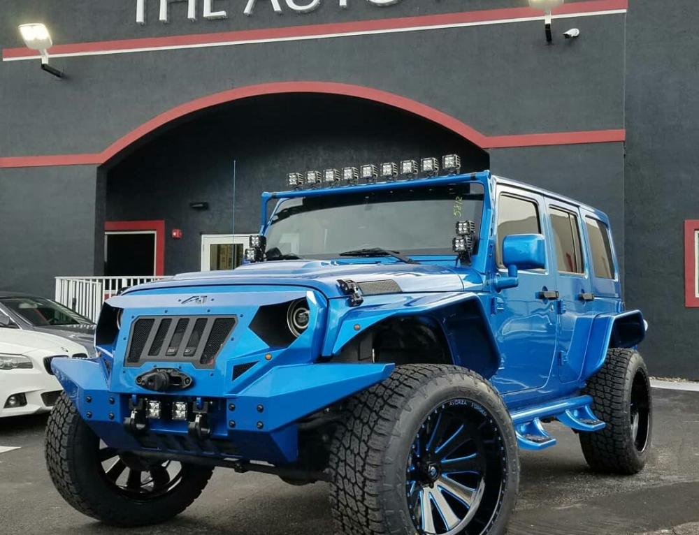 Ivan Alvarez Blue Jeep Wrangler JK