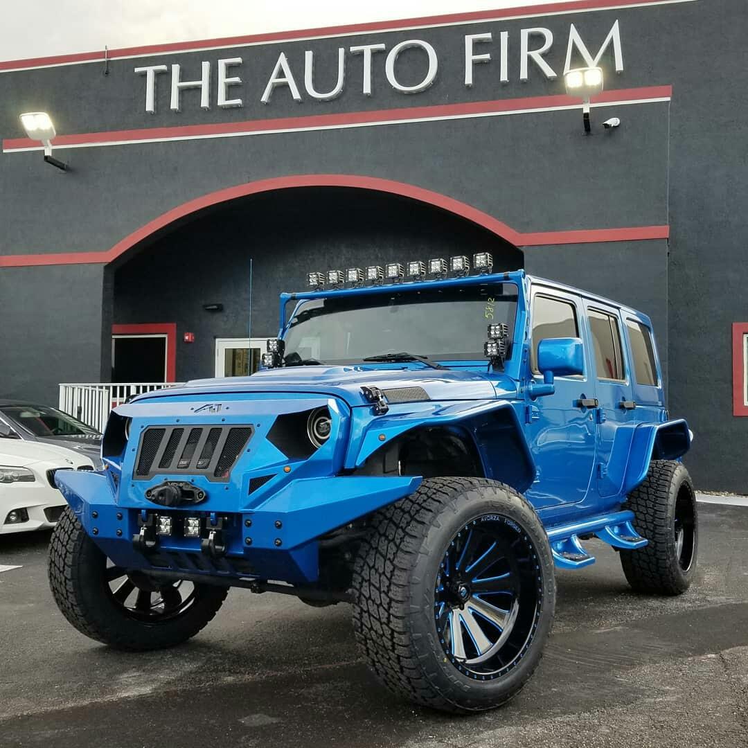 Ivan Alvarez Blue Jeep Wrangler JK - The Auto Firm